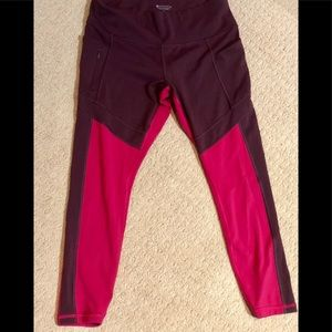 Athleta two colored leggings! Worn once!